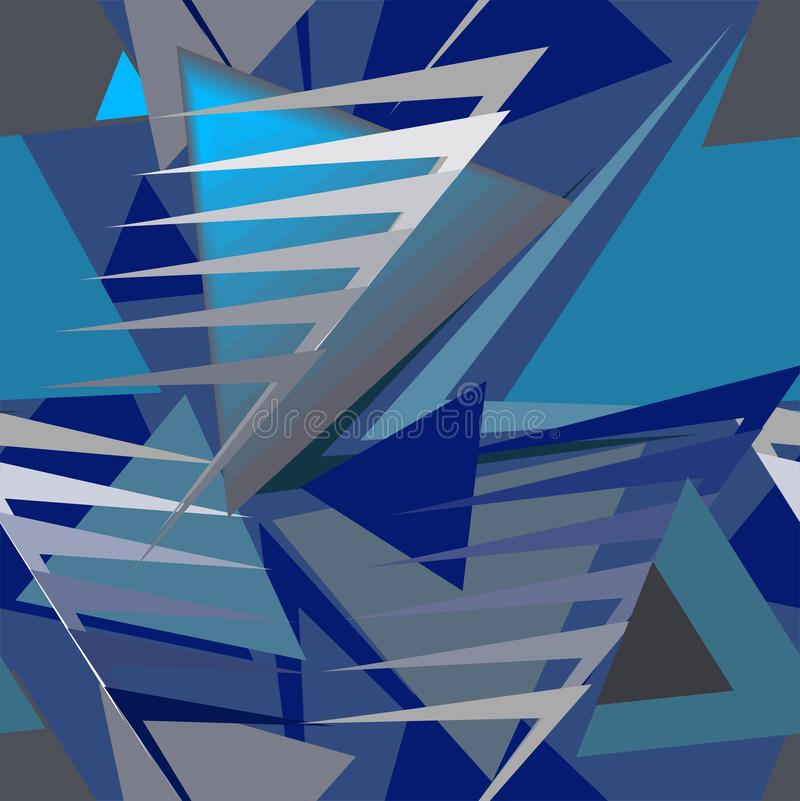 Abstrakt avantgardeprydnad royaltyfri illustrationer