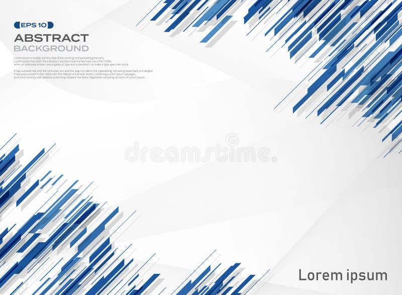 Abstrakt błękitny koloru lampasa linii technologii tło ilustracji