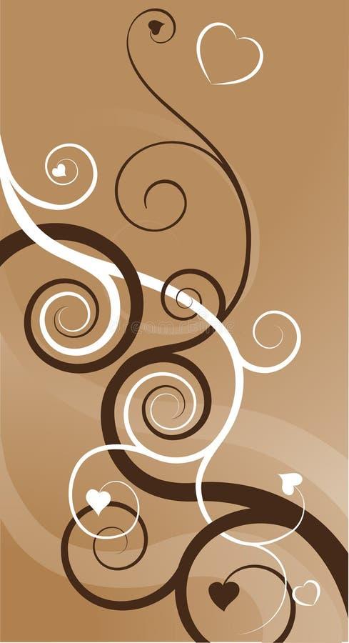abstrakt backgrouhjärtaswirls royaltyfri illustrationer