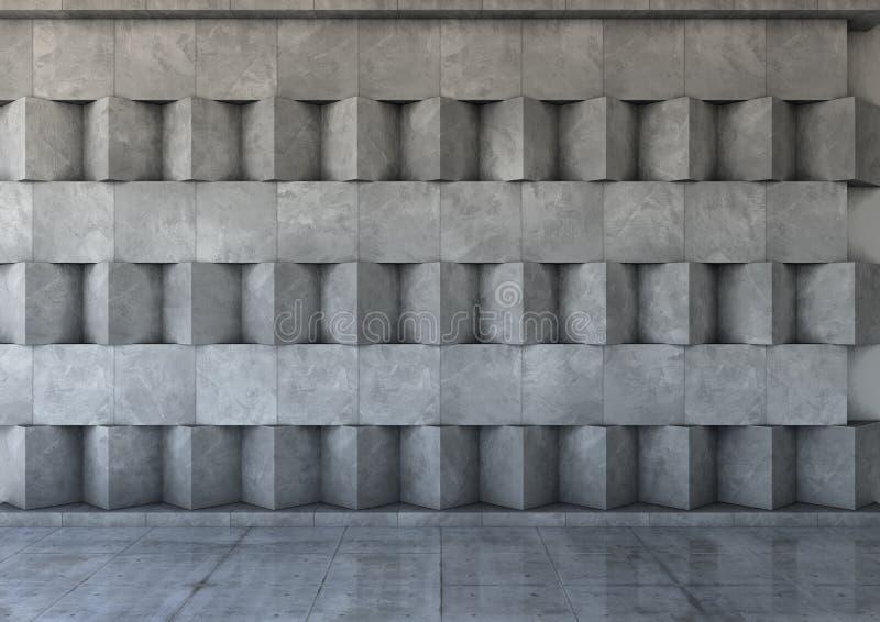 Abstrakt bakgrund av betongen stock illustrationer