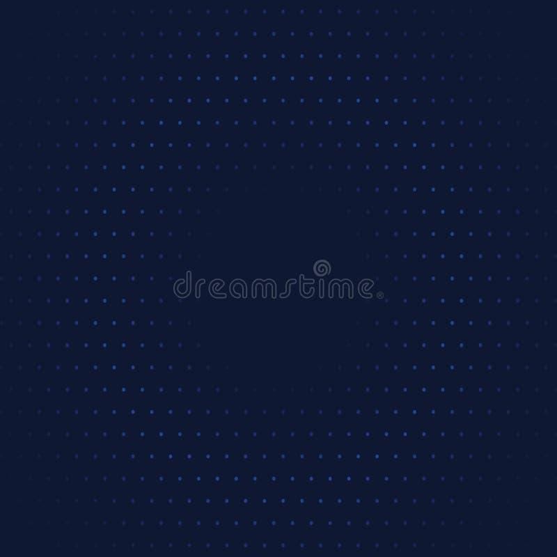 Abstrakt bakgrund av buktat dotes i mörkt - blåa färger stock illustrationer
