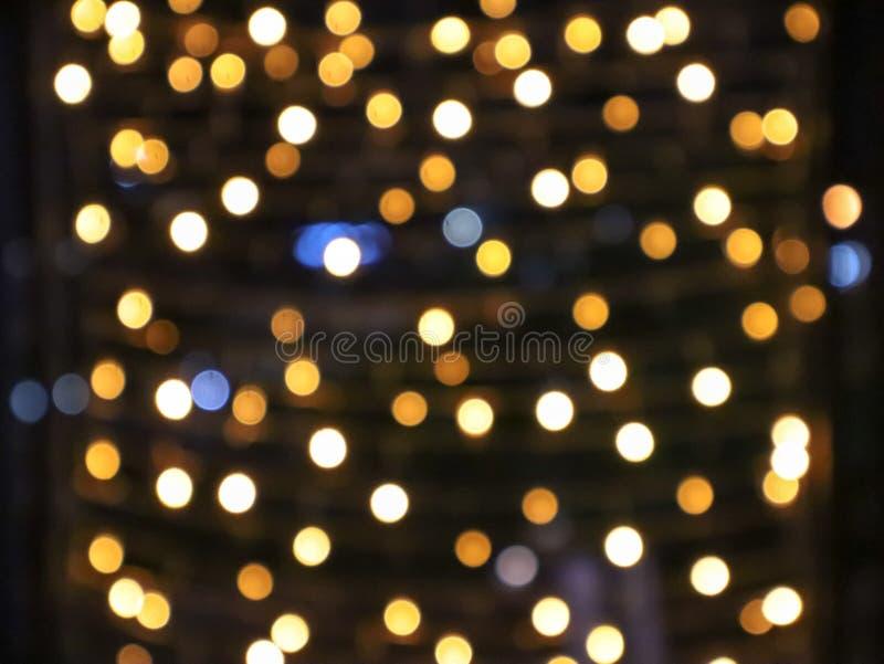 Abstrakt bakgrund av defocused på ljus med bokeheffekt Suddig bakgrund, kopieringsutrymme för att redigera och text royaltyfri fotografi