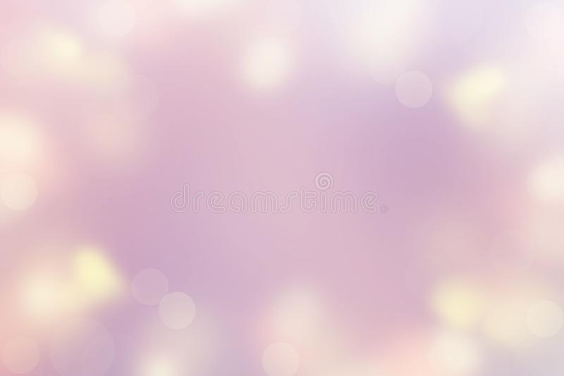 Abstrakt bakgrund av Defocused rosa för färg för ljus för fläck pastellfärgad, purpurfärgad gul glad jul och det lyckliga nya åre arkivfoton