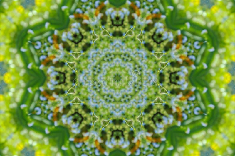 abstrakt bakgrund av den blom- modellen av en kalejdoskop royaltyfri illustrationer