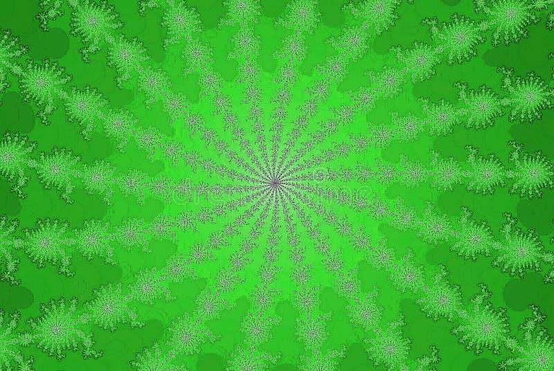 Abstrakt bakgrund av den nya gröna sommarsolfractalen vektor illustrationer