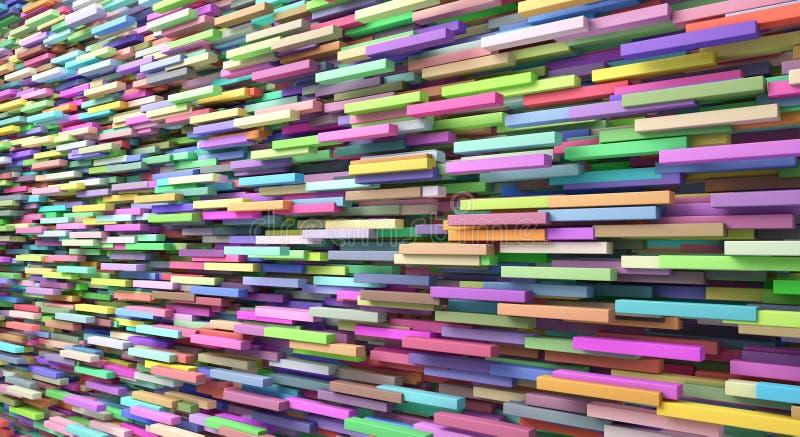 Abstrakt bakgrund av färgade många kuber vektor illustrationer