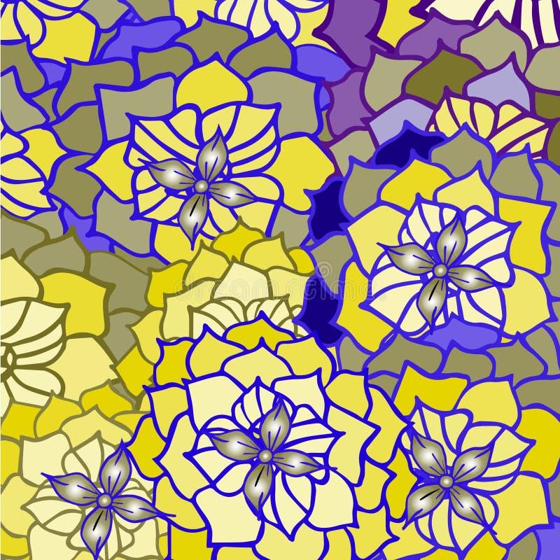 Abstrakt bakgrund av kronblad- och blommamodellen vektor illustrationer