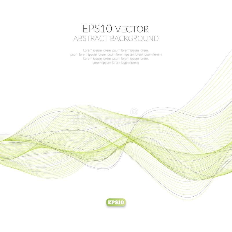 Abstrakt bakgrund av många fodrar Rörelsen av vågorna Tredimensionell bild av tråden stock illustrationer
