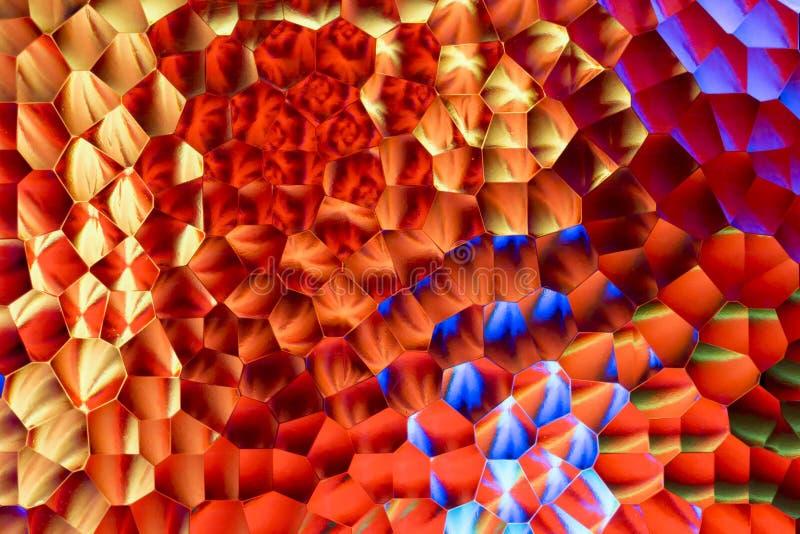 Abstrakt bakgrund av mångfärgat frostat exponeringsglas arkivfoto