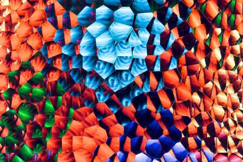 Abstrakt bakgrund av mångfärgat frostat exponeringsglas royaltyfri foto