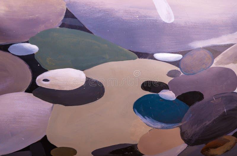 Abstrakt bakgrund av olika format- och färgcirklar royaltyfri fotografi