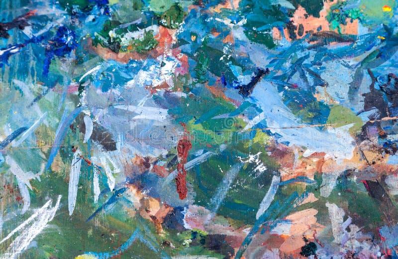 Abstrakt bakgrund av olja suddig målarfärg arkivfoto