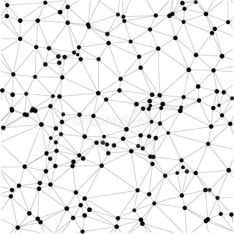 Abstrakt bakgrund av prickar och linjer vektor royaltyfri illustrationer