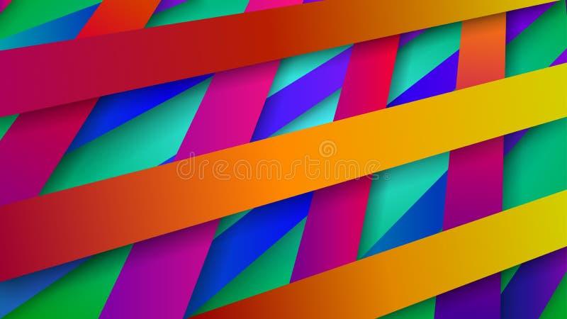 Abstrakt bakgrund av vävde samman band stock illustrationer