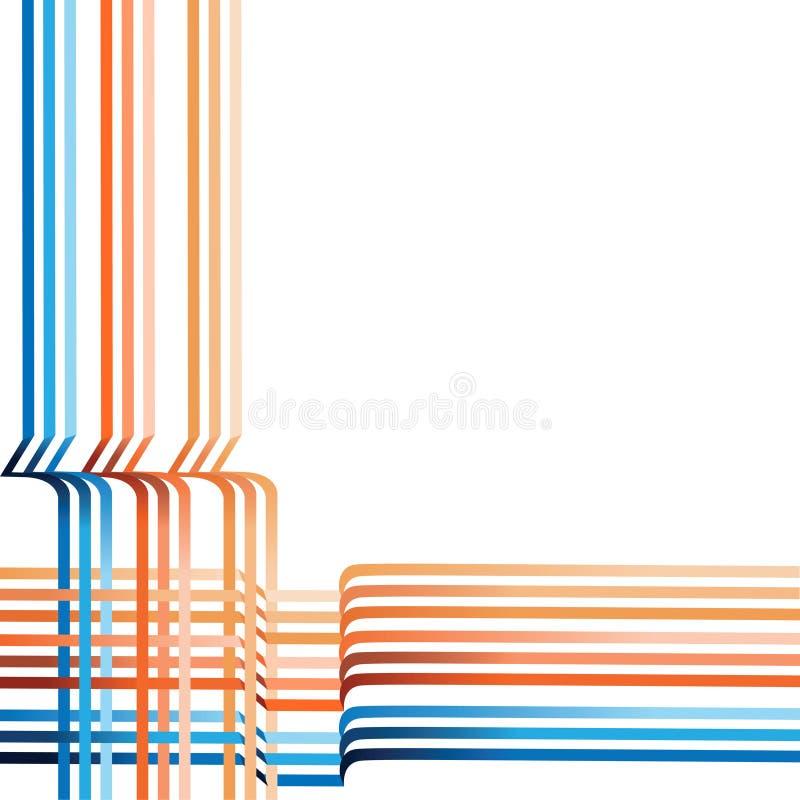 Abstrakt bakgrund av vävde samman kulöra band vektor illustrationer