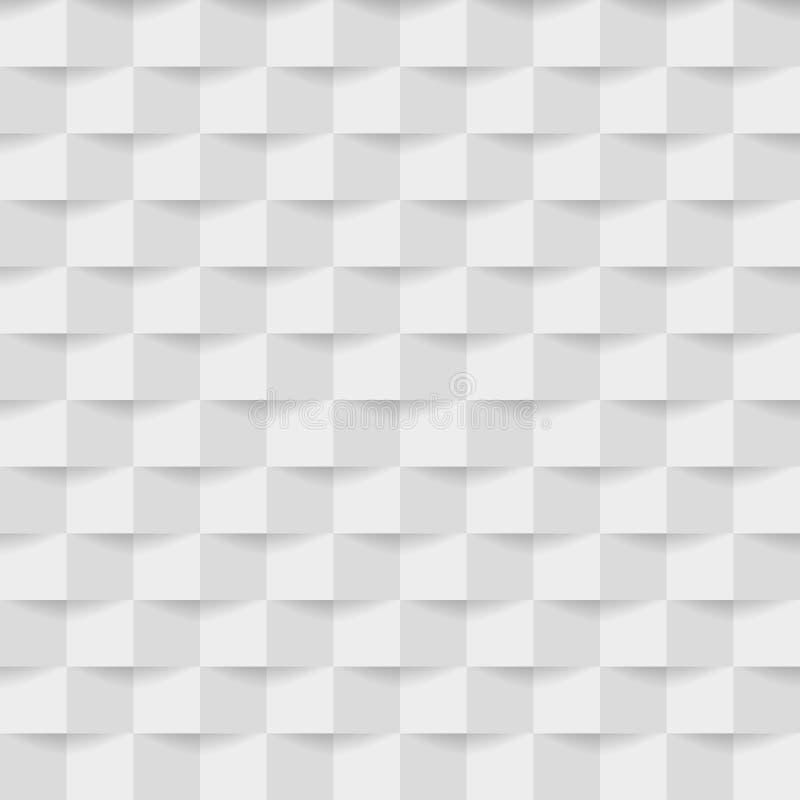Abstrakt bakgrund av vit-grå färger fyrkanter 10 eps stock illustrationer