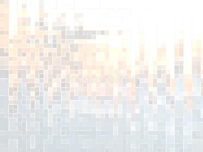 Abstrakt bakgrund, banermosaik royaltyfri illustrationer