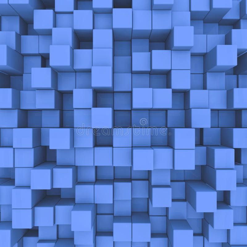 abstrakt bakgrund blåa kuber royaltyfri illustrationer