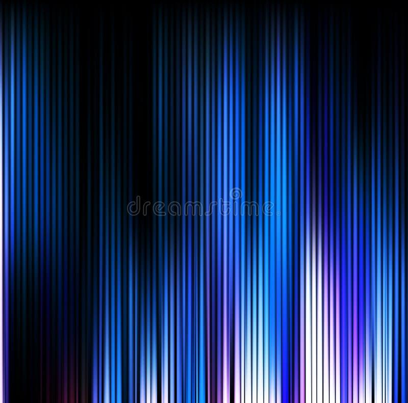 abstrakt bakgrund Blåa vertikala linjer för rörelse vektor illustrationer