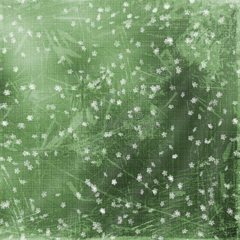 abstrakt bakgrund blommar green vektor illustrationer