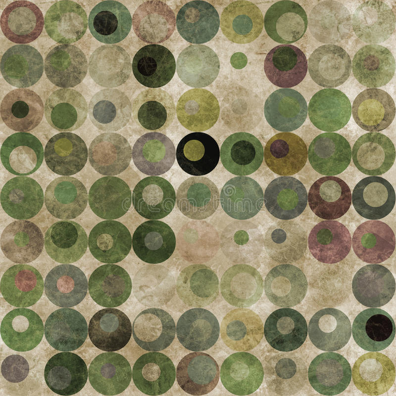 abstrakt bakgrund cirklar green royaltyfri illustrationer
