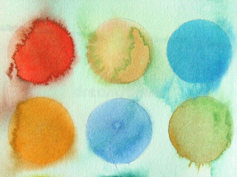 abstrakt bakgrund cirklar vattenfärg vektor illustrationer