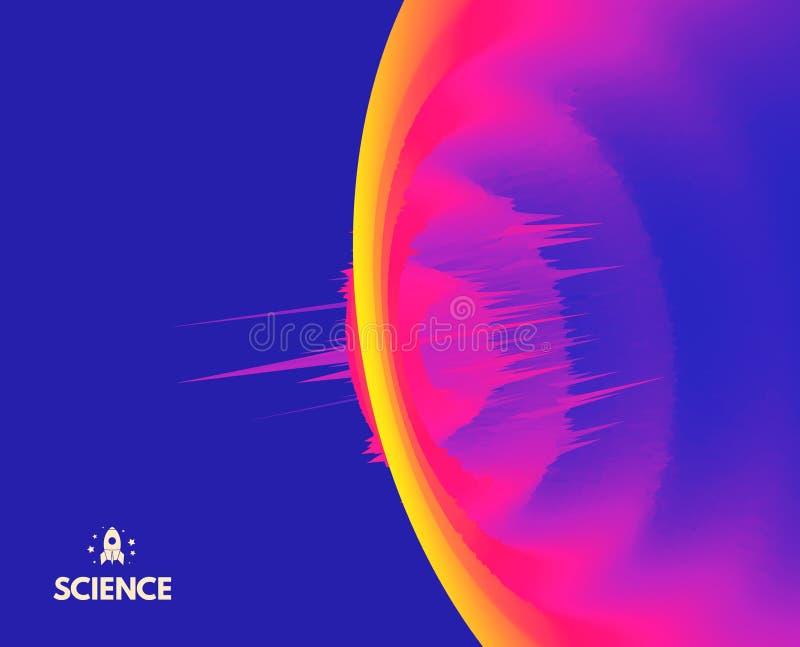 abstrakt bakgrund 3d Dynamisk effekt Futuristisk teknologistil Rörelsevektorillustration royaltyfri illustrationer
