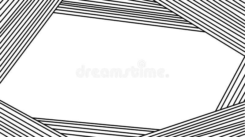 Abstrakt bakgrund de svarta linjerna visar geometrin av ramen Modernt modellera vatten f?r vektor f?r ny illustration f?r design  royaltyfri illustrationer
