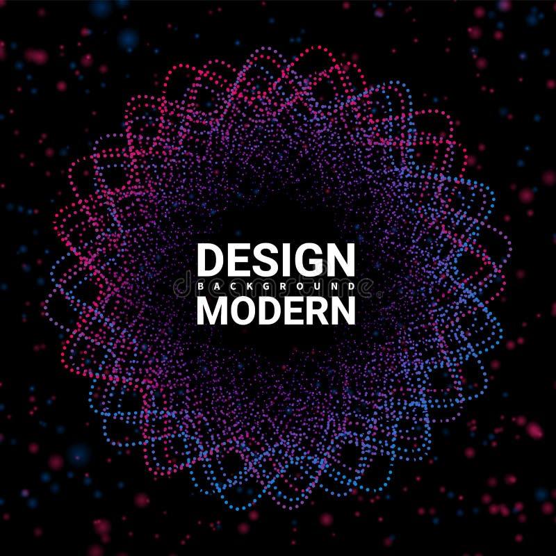 Abstrakt bakgrund Digital för ljudsignal studiovektor med rundan Musikcirkelvåg Solida taktkrusningar sänder ut våghögvatten musi royaltyfri illustrationer
