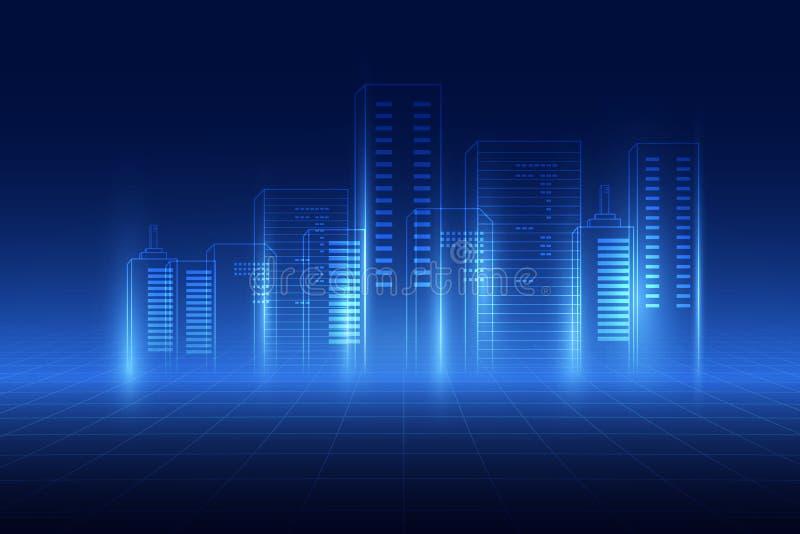 abstrakt bakgrund digitalt stadsbegrepp Abstrakt komplex struktur av staden ocks? vektor f?r coreldrawillustration vektor illustrationer