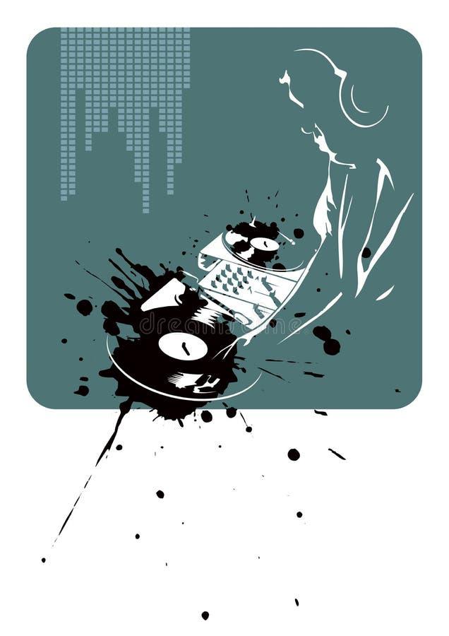 abstrakt bakgrund dj vektor illustrationer