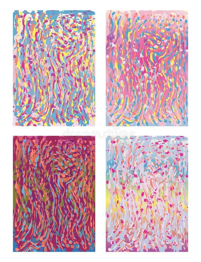Abstrakt bakgrund eller räkning i versioner för en målningstil 4 royaltyfria bilder