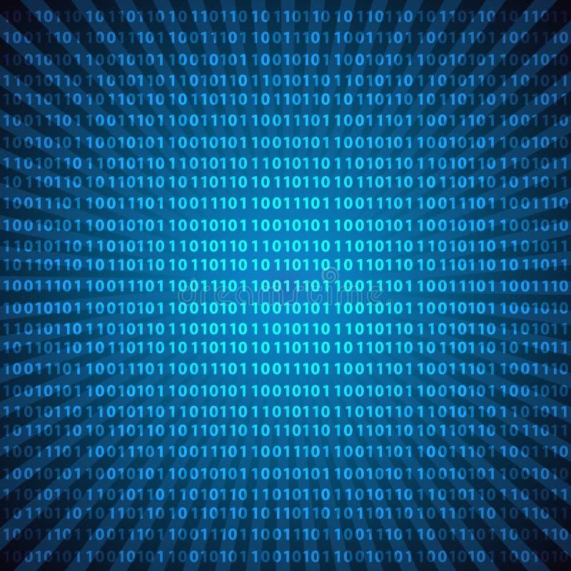 Abstrakt bakgrund eps10 för blålinjen för siffror för binär kod för mystiker royaltyfri illustrationer
