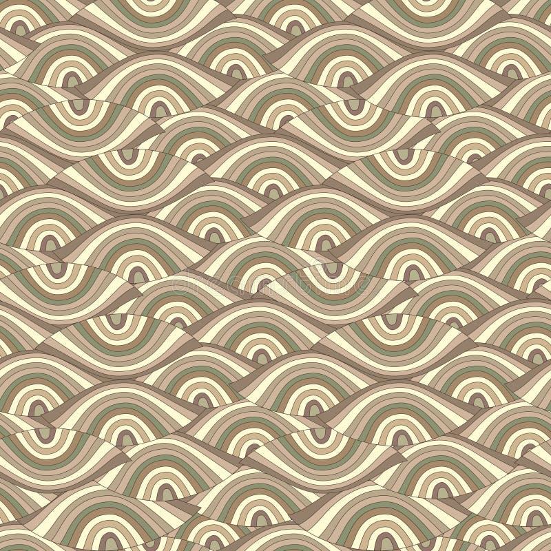 abstrakt bakgrund eyes den seamless vektorn royaltyfri illustrationer