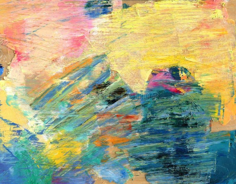 abstrakt bakgrund färgrik palett Dragit by räcka stock illustrationer
