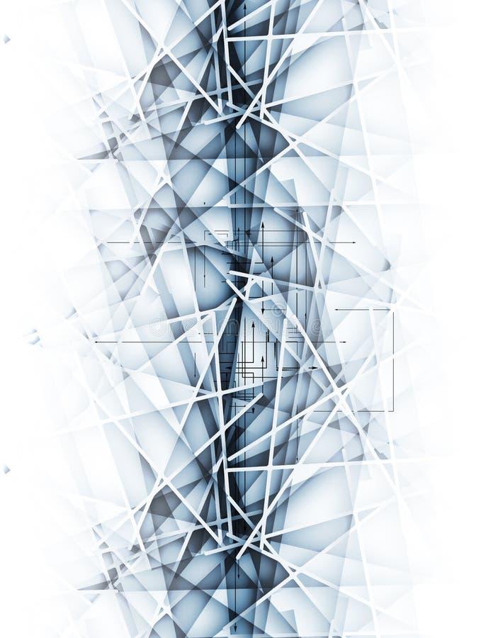 Abstrakt bakgrund för affär för suddighetsisteknologi royaltyfri foto