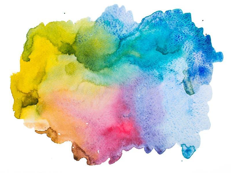 Abstrakt bakgrund för akvarell stock illustrationer