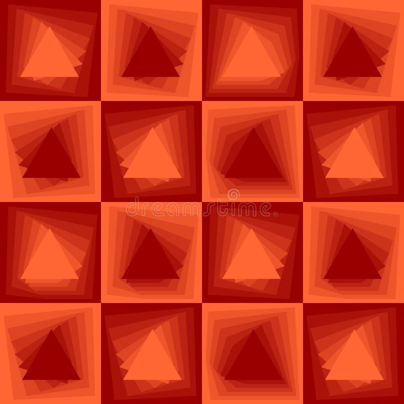 Abstrakt bakgrund för apelsin, kontrollörmodeller med att blanda triangeltextur vektor illustrationer