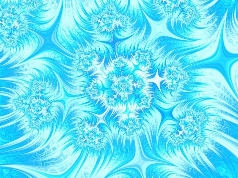 Abstrakt bakgrund för aquablåttvit Den Seamless modellen kan användas för wallpaperen, modellpåfyllningar, rengöringsduksidabakgr royaltyfri illustrationer
