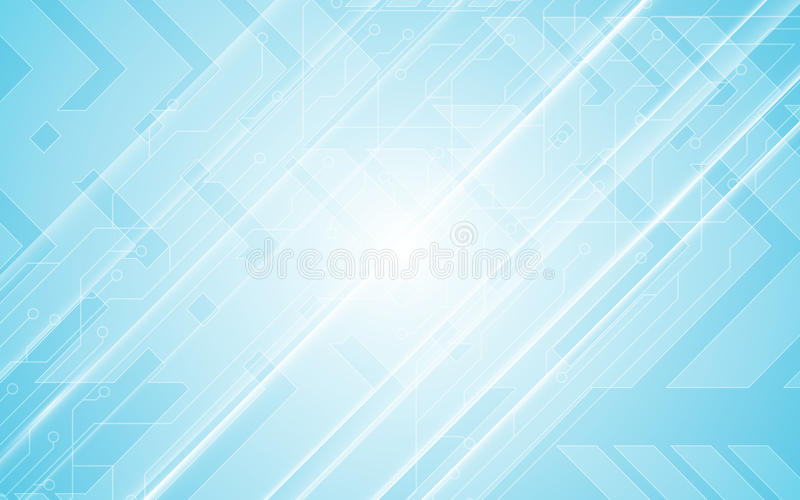 Abstrakt bakgrund för blått för design för rörelse för hastighet för pil för modell för strömkrets för begrepp för teknologikommu royaltyfri illustrationer