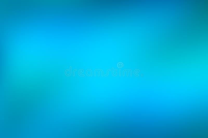 Abstrakt bakgrund för blått och grönt vatten, för effektlutning för kallt vatten bakgrund av ljus livlig turkosfärg som bleknar t royaltyfri illustrationer
