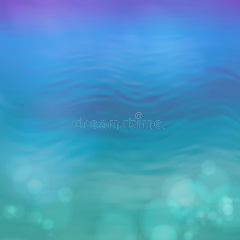 Abstrakt bakgrund för blått vatten för vektor stock illustrationer