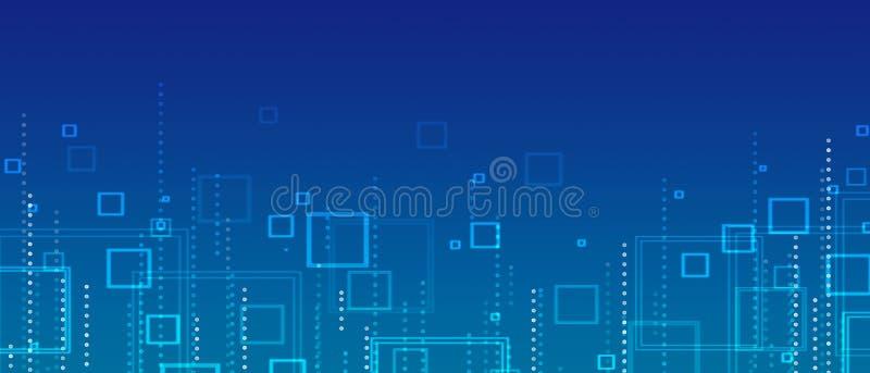 Abstrakt bakgrund för Blue stock illustrationer