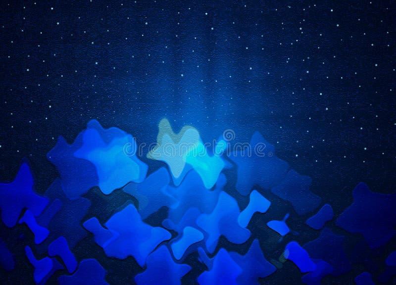 Abstrakt bakgrund för Blue med stjärnor royaltyfri foto