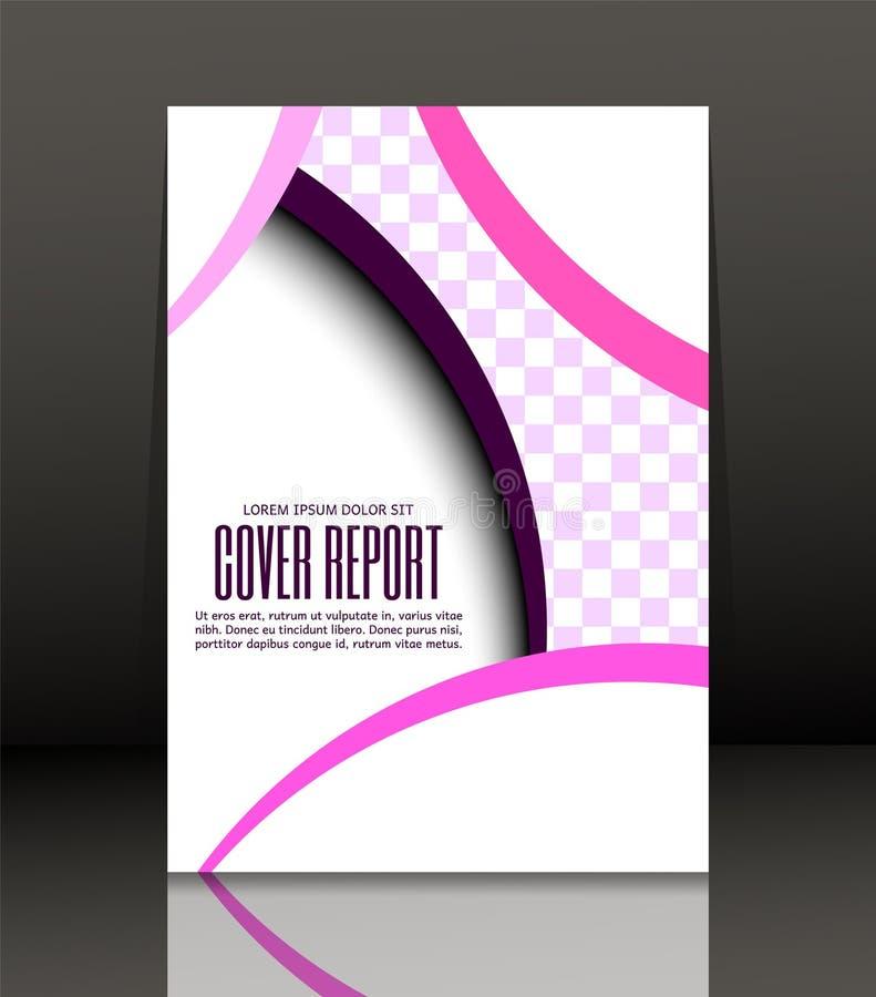 Abstrakt bakgrund för broschyren, räkning Mall för affischen vektor royaltyfri illustrationer