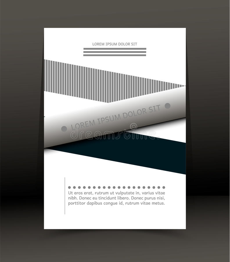 Abstrakt bakgrund för broschyren, räkning Mall för affischen vektor stock illustrationer