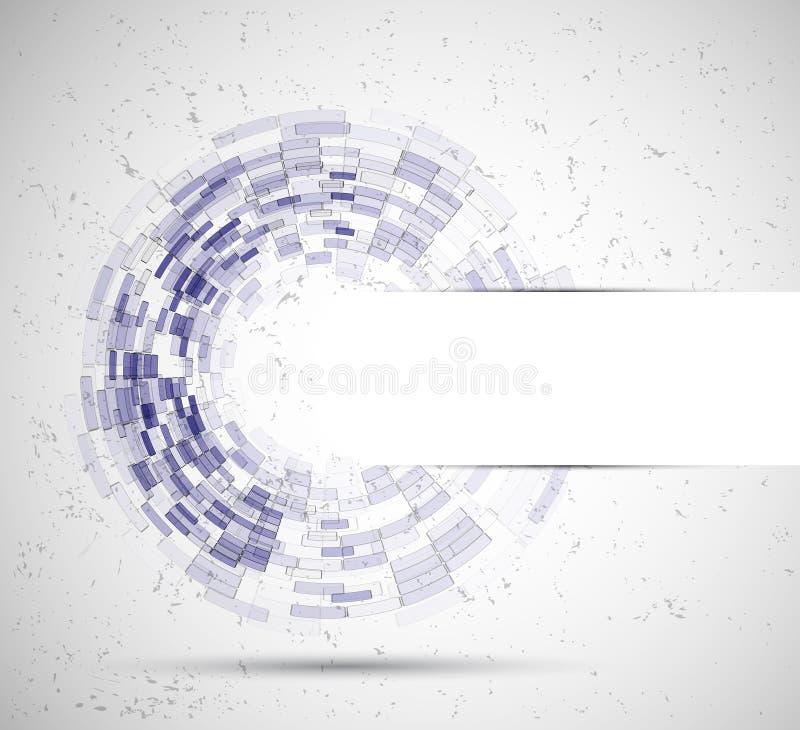 Abstrakt bakgrund för cirkeltecnologyaffär royaltyfri illustrationer