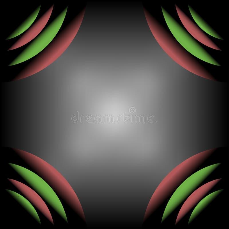 Abstrakt bakgrund för design för ram för kurvvåghörn royaltyfri illustrationer