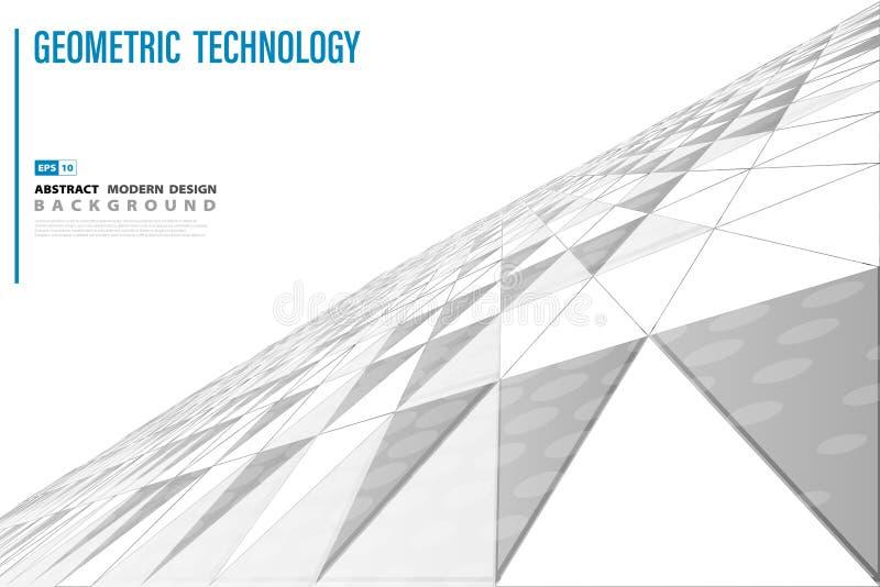 Abstrakt bakgrund för design för räkning för teknologitriangelperspektiv Illustrationvektor eps10 vektor illustrationer