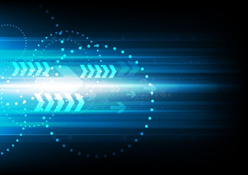 Abstrakt bakgrund för digital teknologi för hastighetspil vektor illustrationer